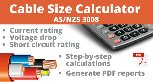 Cable Size Calculator As Nzs 3008 Jcalc Net Jcalc Net